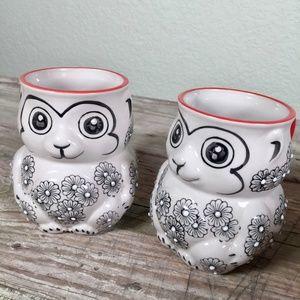Yokohama Studio figural cups pair Moriage animal